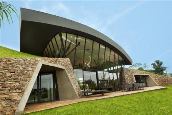 Underground Hillside home in  Luque, Paraguay