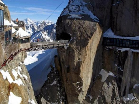 Aiguille du Midi In Chamonix, France