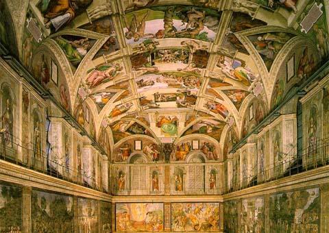 The Sistine Chapel, Italy.