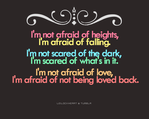 What am I Afraid Of??